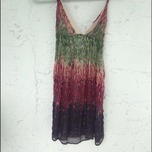 Urban outfitters multi colored cover up dress